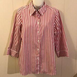 Foxcroft tunic striped shirt blouse size 12 NWOT